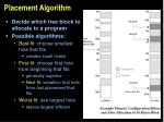 placement algorithm