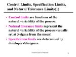 control limits specification limits and natural tolerance limits 1