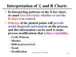 interpretation of and r charts