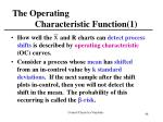 the operating characteristic function 1