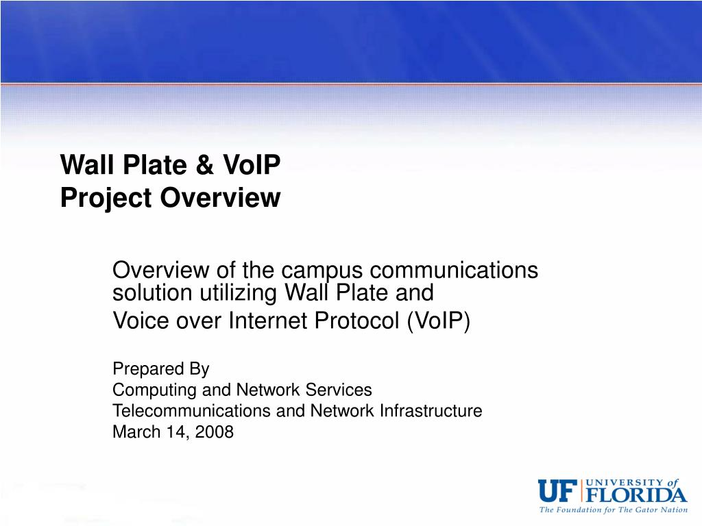 wall plate voip project overview l.
