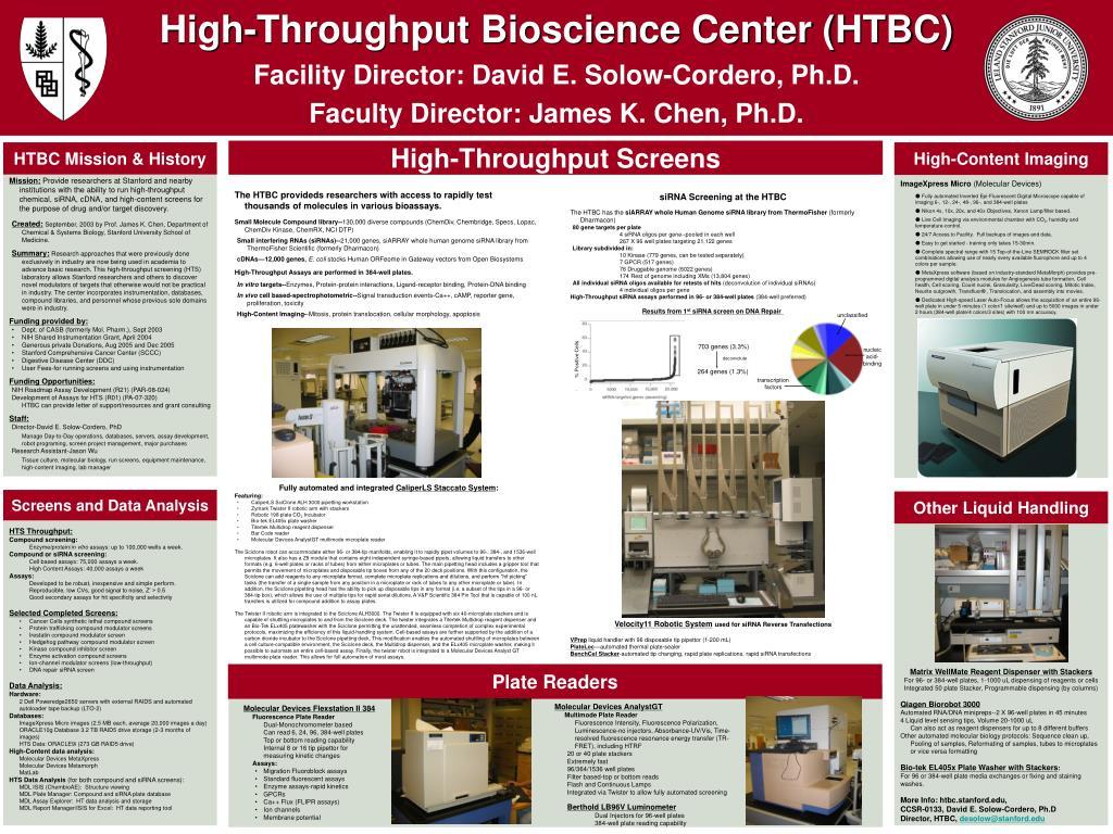 high throughput bioscience center htbc l.
