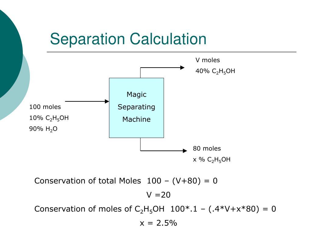 Separation Calculation