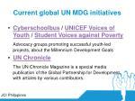 current global un mdg initiatives28