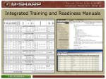 integrated training and readiness manuals