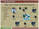 multi user multi level environment