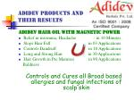adidev products and their results
