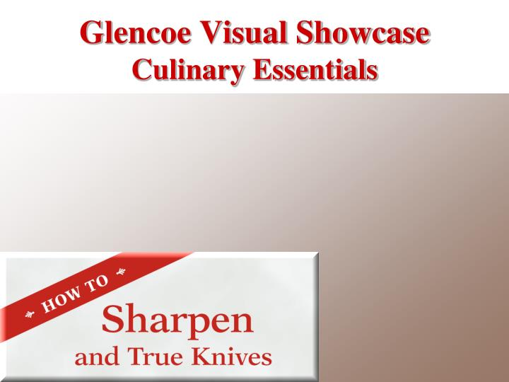 glencoe visual showcase culinary essentials n.