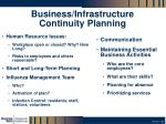 business infrastructure continuity planning