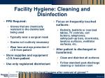 facility hygiene cleaning and disinfection