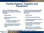 facility hygiene supplies and equipment