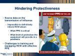 hindering protectiveness