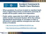 incident command health care workers