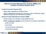 national incident management system nims and incident command system ics