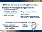 ppe for aerosol generating procedures
