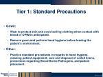 tier 1 standard precautions1