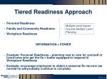 tiered readiness approach