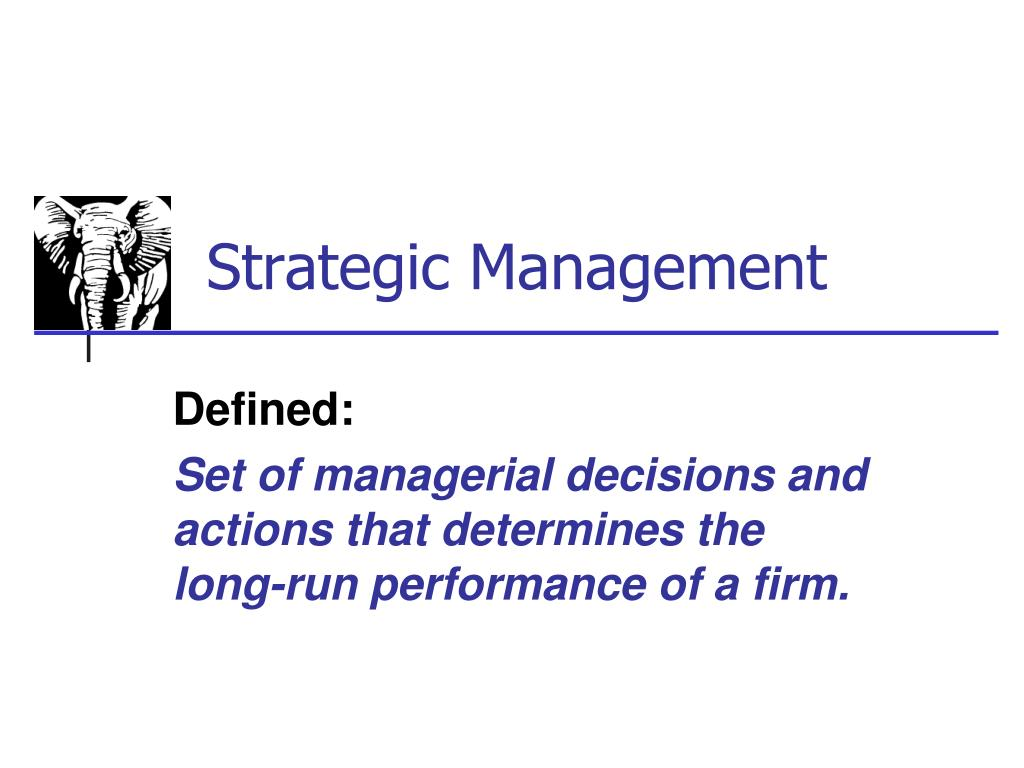 strategic management l.