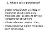 2 what is social perception