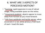 6 what are 3 aspects of perceived motion
