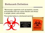 biohazards definition