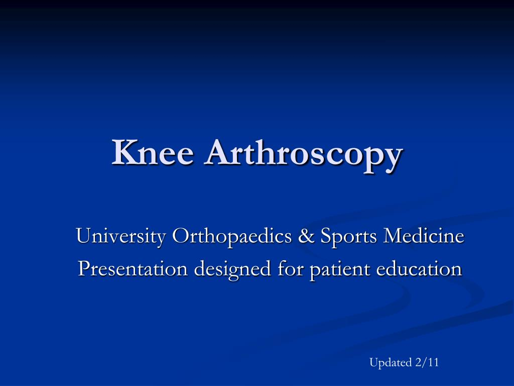 knee arthroscopy l.
