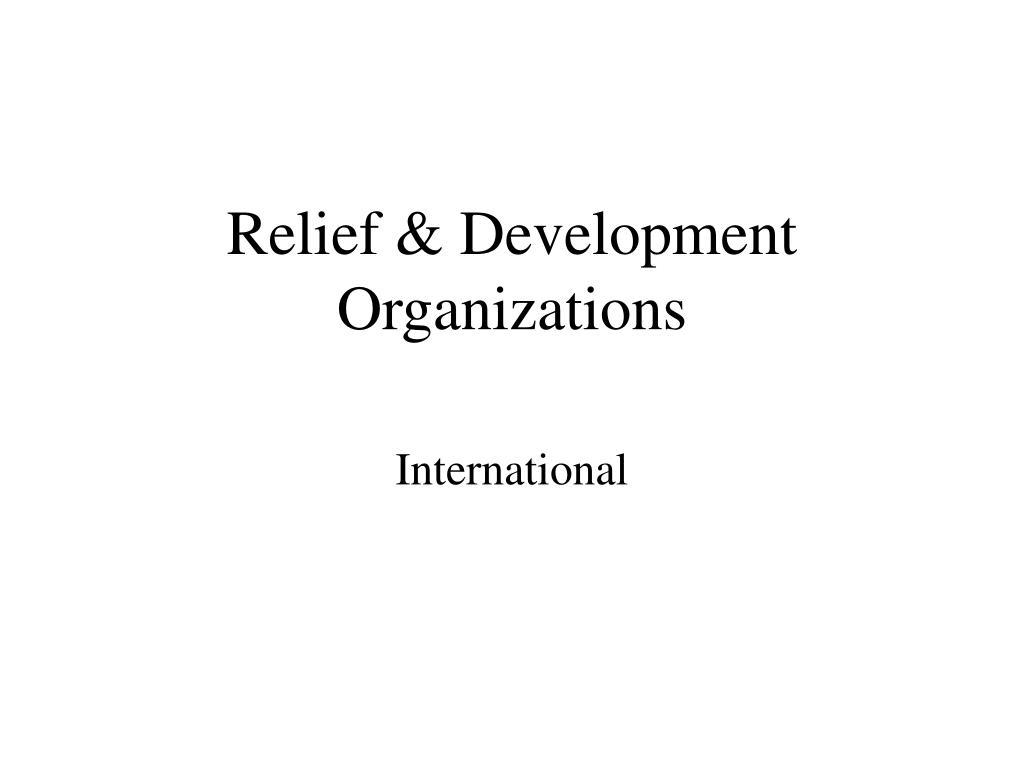 relief development organizations l.