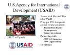 u s agency for international development usaid