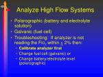 analyze high flow systems