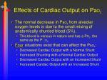 effects of cardiac output on p a o 2