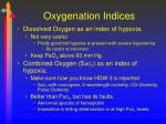oxygenation indices