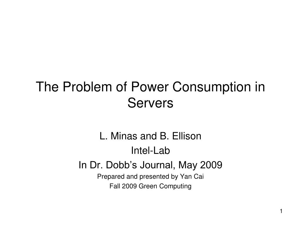 the problem of power consumption in servers l.