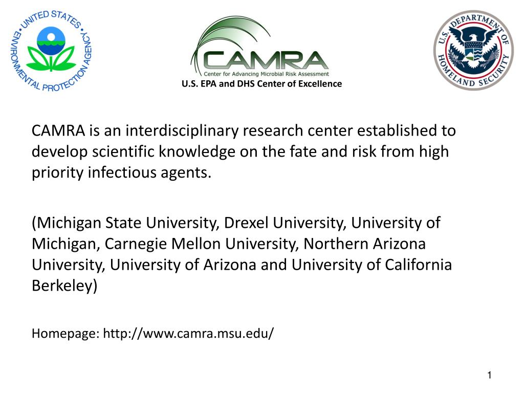 u s epa and dhs center of excellence l.
