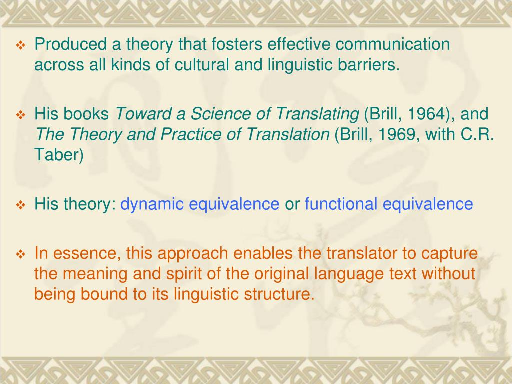 Produced a theory that fosters effective communication across all kinds of cultural and linguistic barriers.