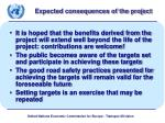 expected consequences of the project