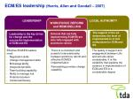 ecm es leadership harris allen and goodall 2007