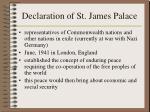 declaration of st james palace