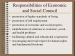 responsibilities of economic and social council