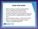 bswa fgm work