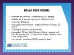 bswa fgm work4