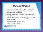 bswa what we do