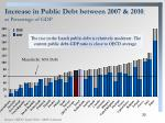 increase in public debt between 2007 2010 as percentage of gdp