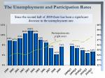 the unemployment and participation rates