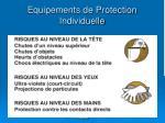 equipements de protection individuelle