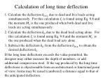 calculation of long time deflection