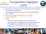 transportation highlights cont