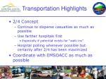 transportation highlights