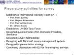 preparatory activities for survey