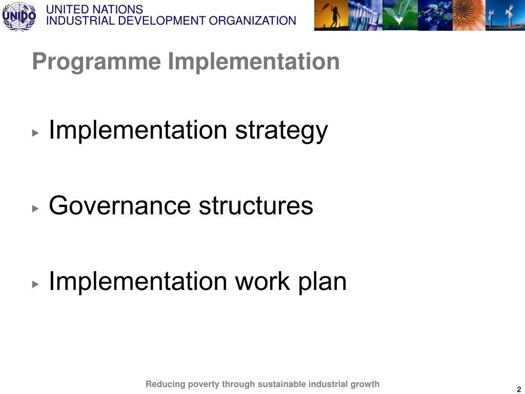 Programme Implementation