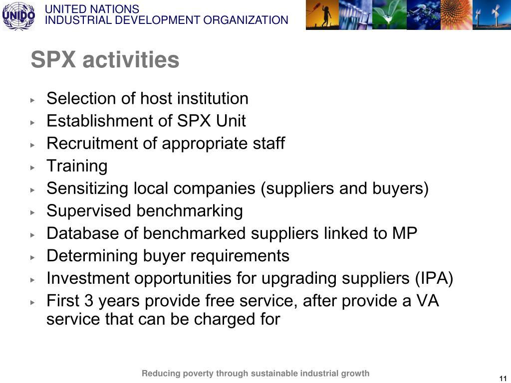 SPX activities